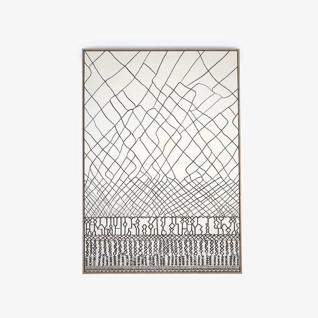 Quadro Abstrato Preto 140x100 cm