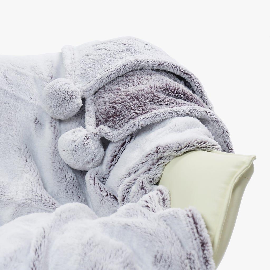 Manta Pompons Branco 127x152 cm
