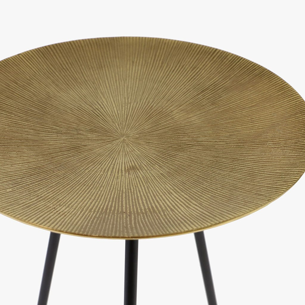 Mesa Metal Dourado 51x33cm