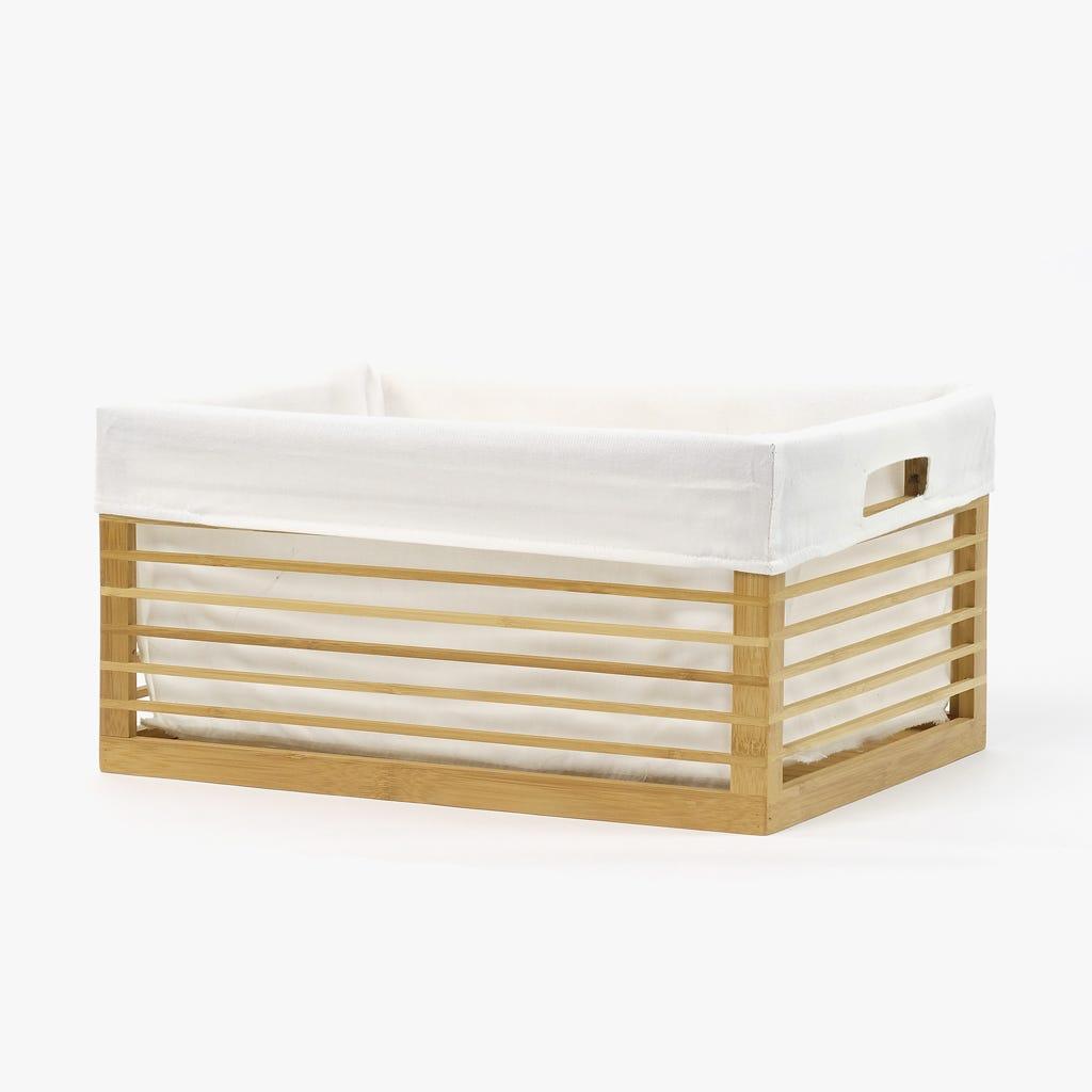 Cesto de Arrumação Bambu 40x30 cm