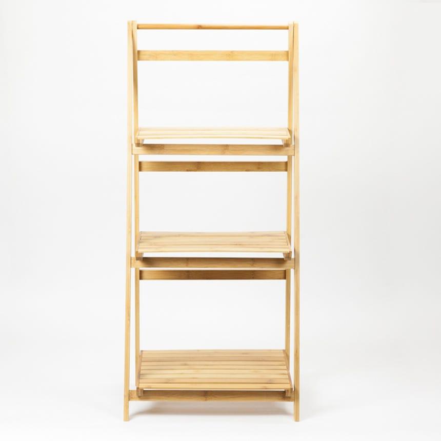 Estante Escada Rebatível Bambu 45x33x100 cm