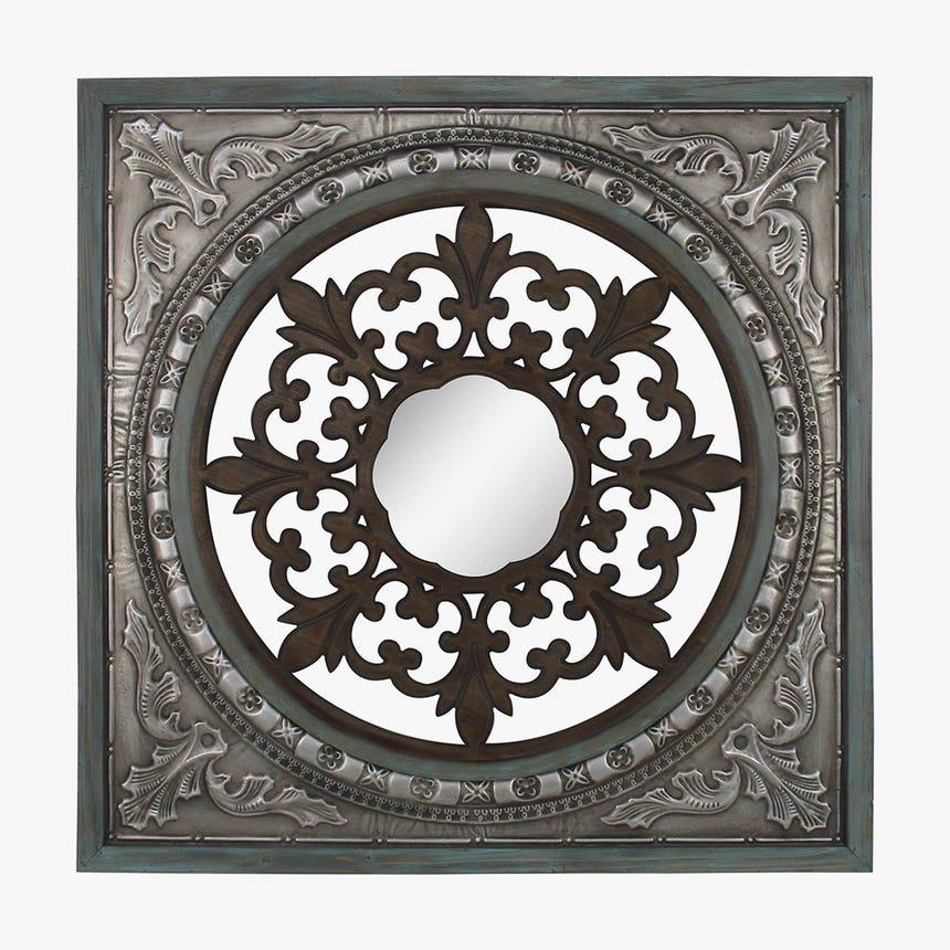 Painel Flor com Espelho 114x114 cm