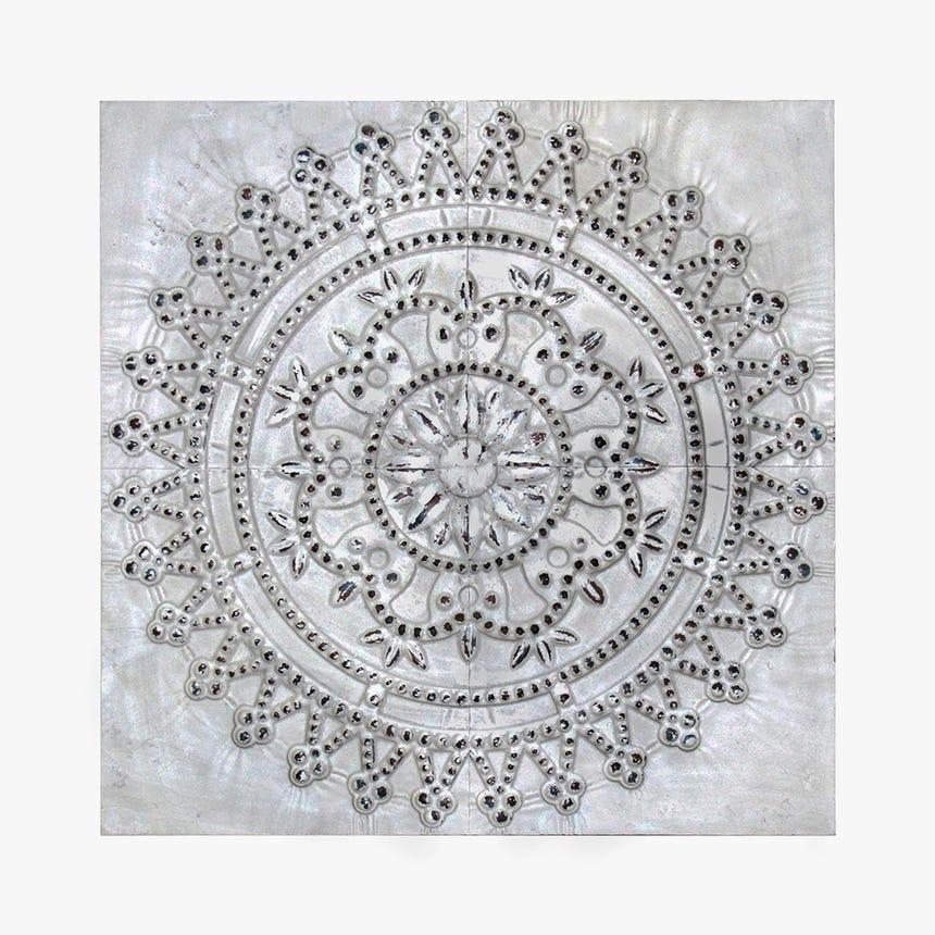 Painel Florão Branco 91x91 cm
