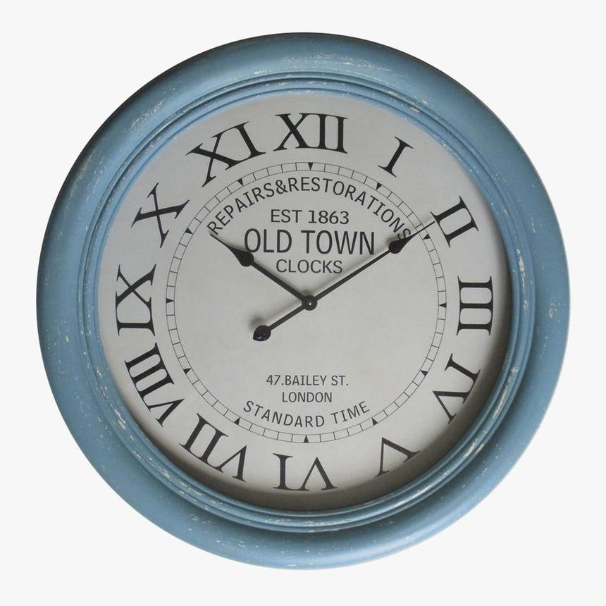 Relógio Old Town Azul 80 cm