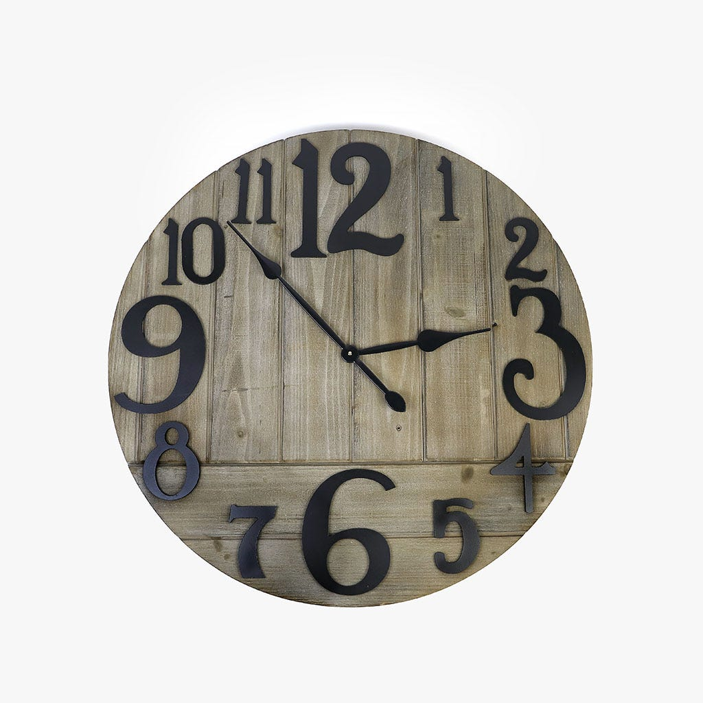 Relógio de parede madeira 78 cm
