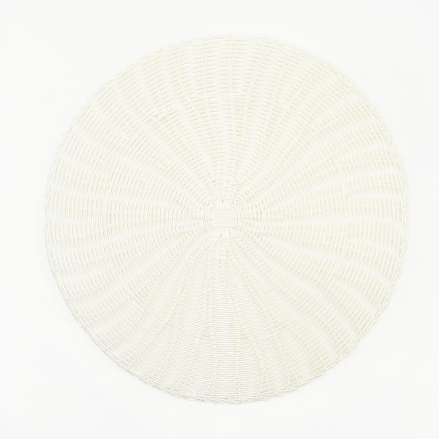 Individual piquenique Redondo Branco D: 38cm