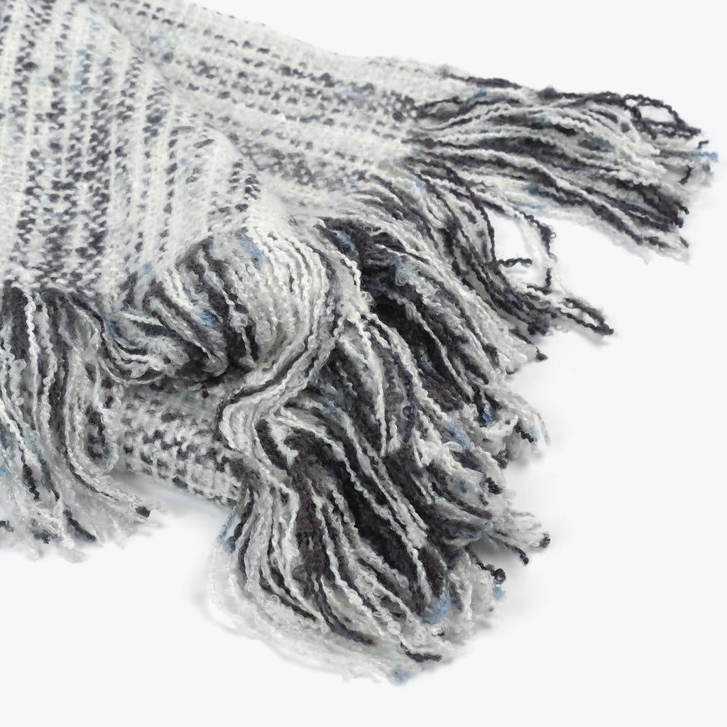 Manta Franjas Cinzento 125x150 cm
