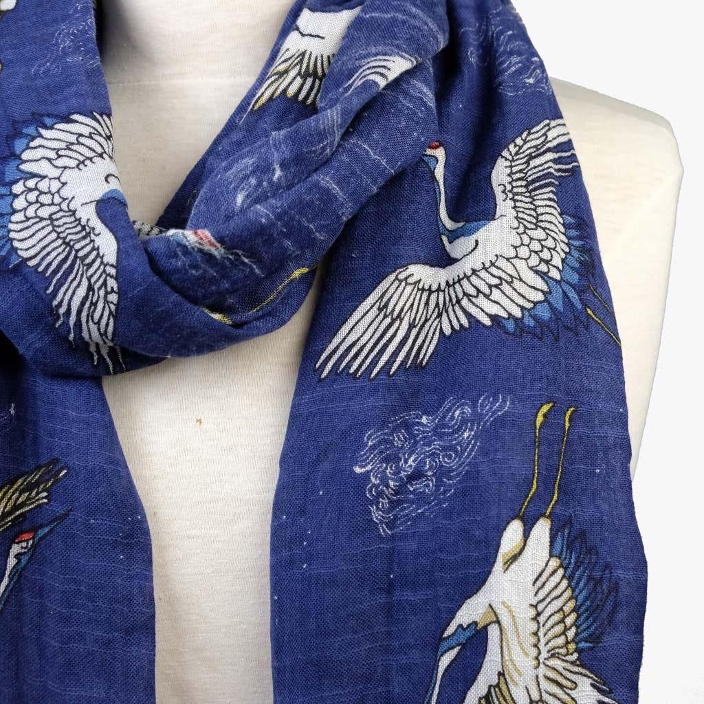Echarpe Sonho de Kioto Azul 70x180 cm