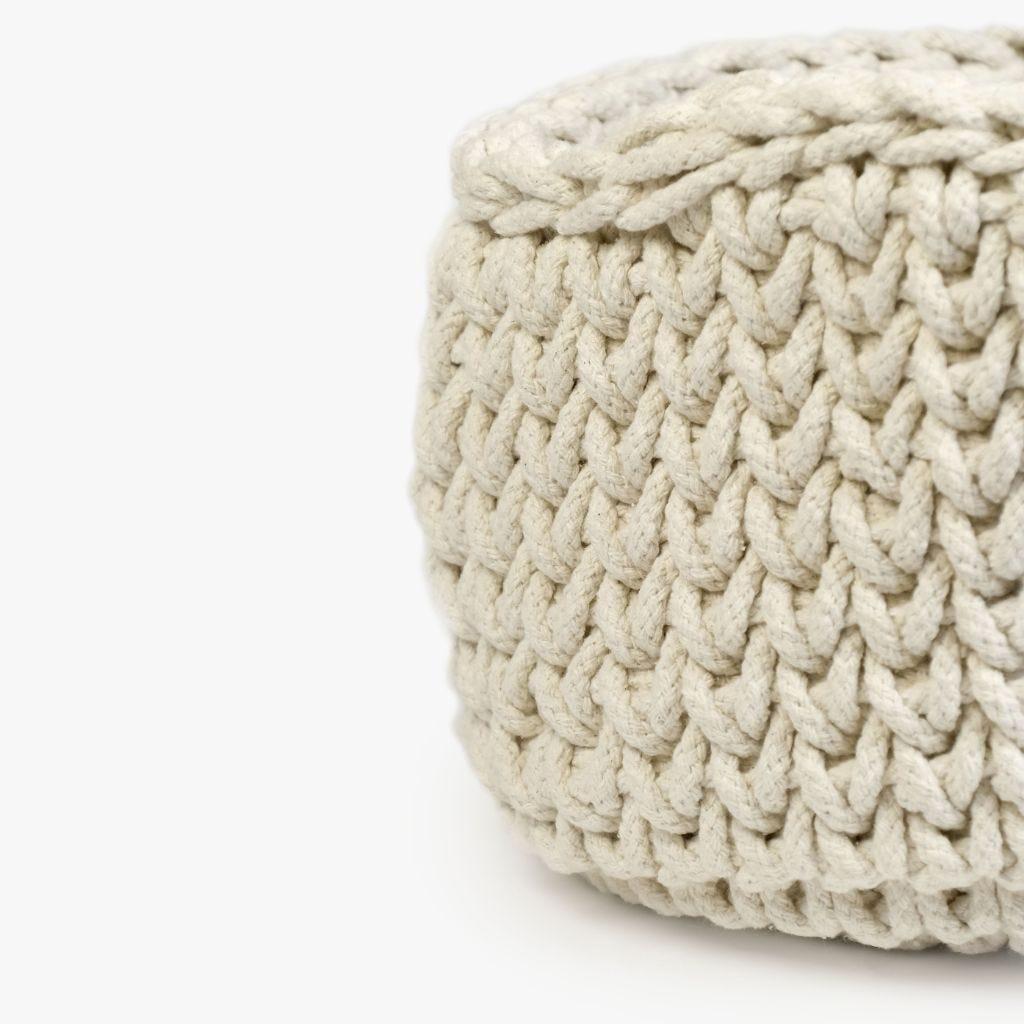 Cesto Tricot Branco D:35x25 cm