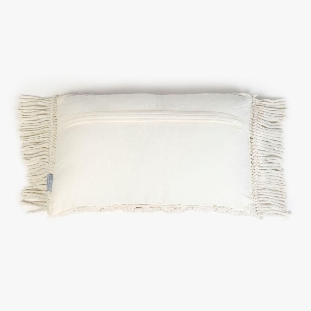 Almofada Macramé Natural 30x50 cm