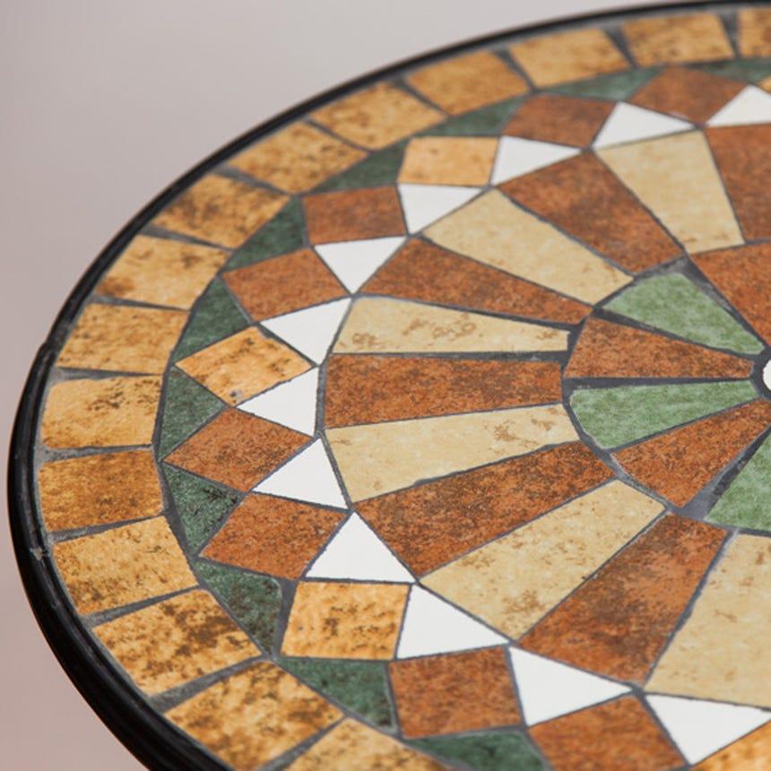 Mesa Mosaico Castanho D:60x75 cm