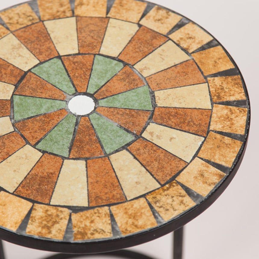 Mesa de Apoio Mosaico Castanho D:38x56 cm