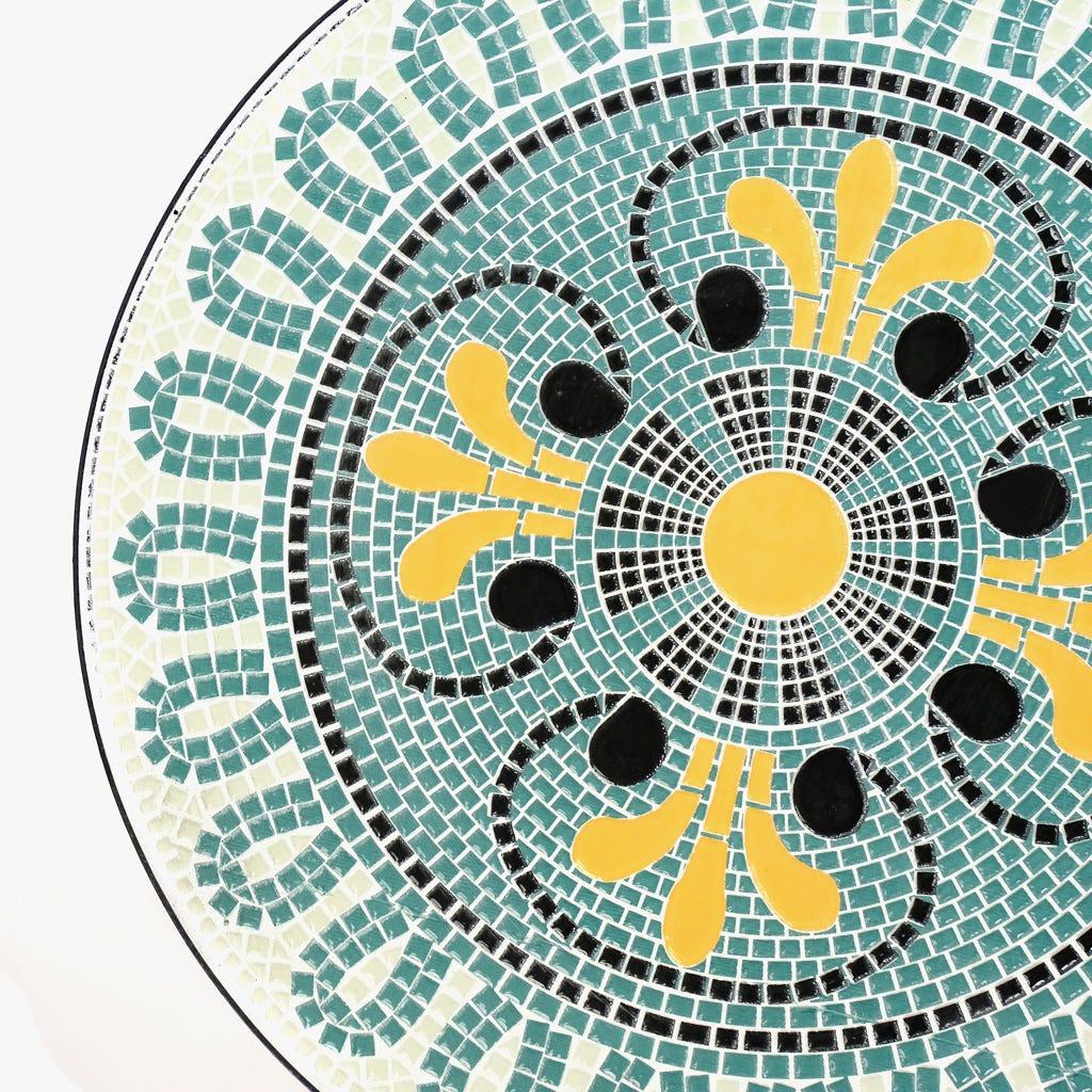 Mesa Mosaico Azul D:60x75 cm