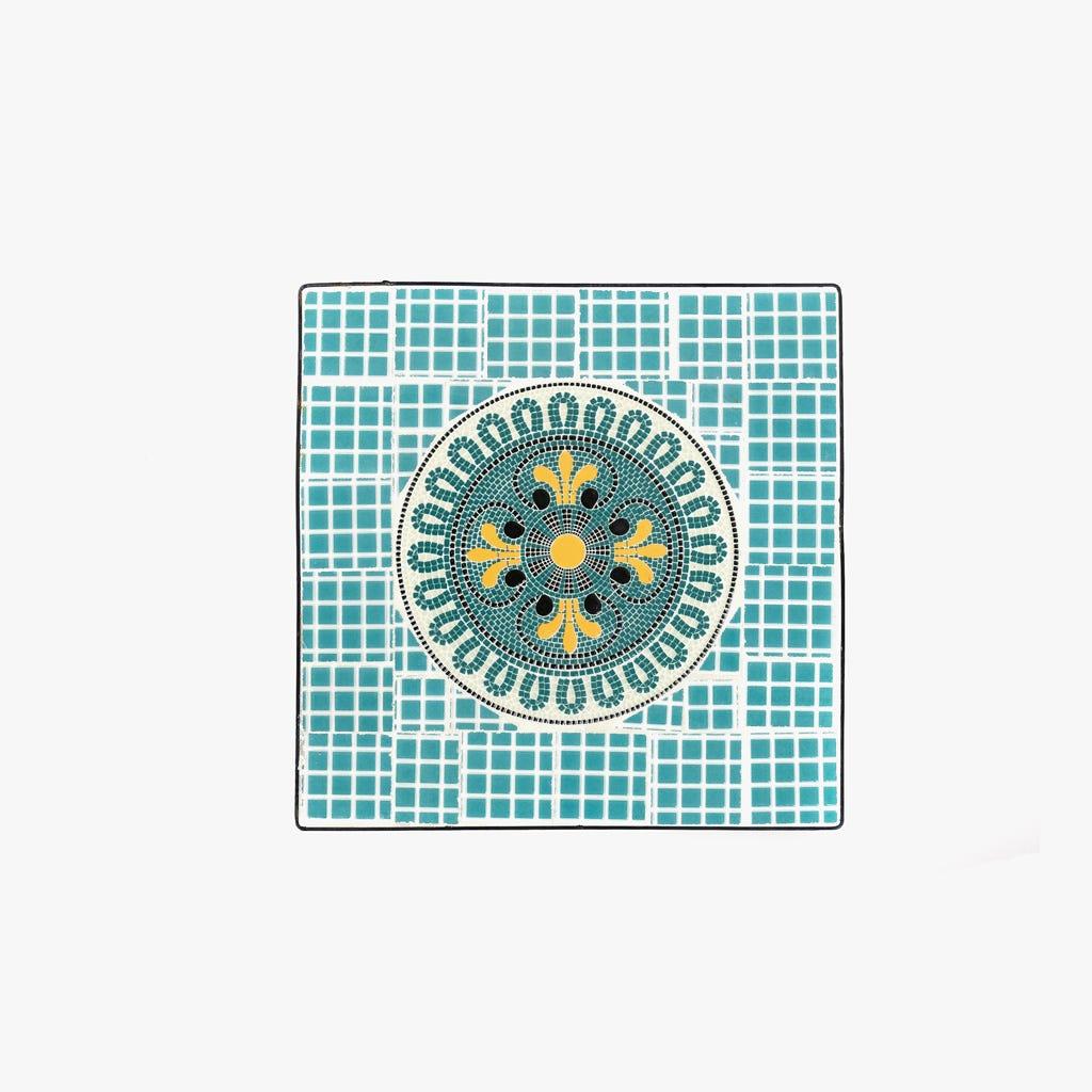Mesa de Apoio Mosaico Azul 36x36x56 cm