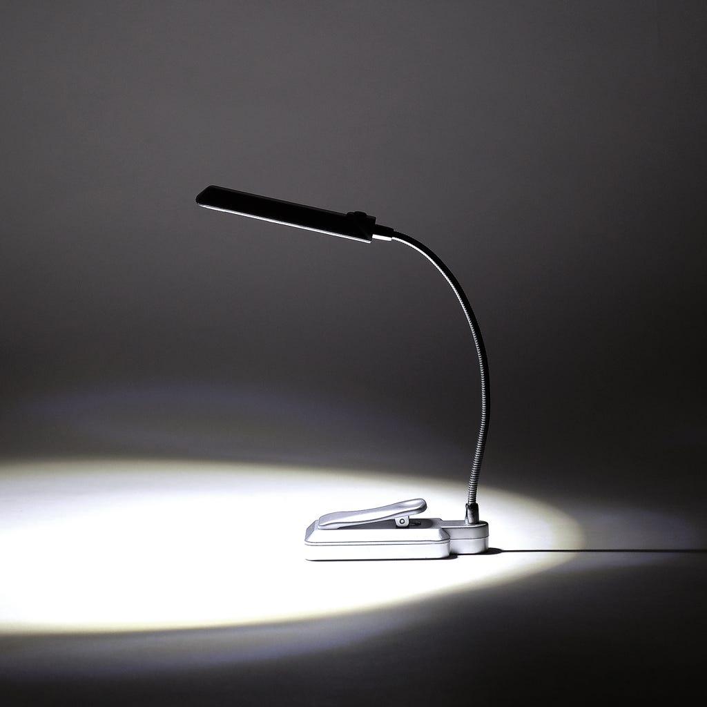 Luz de Leitura 6 LED com Clip Prata