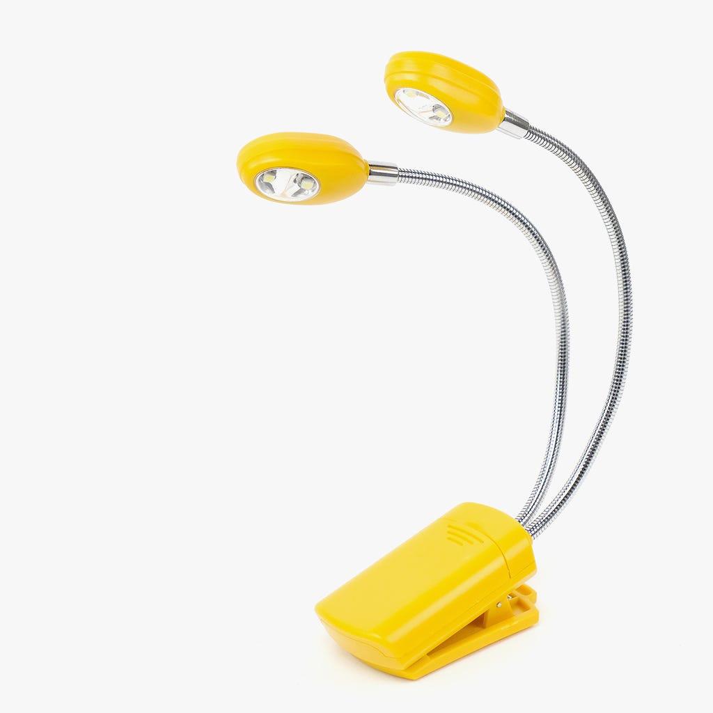 Luz de Leitura 4 LED com Clip Mostarda