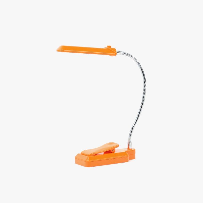Luz de Leitura 6 LED com Clip Laranja