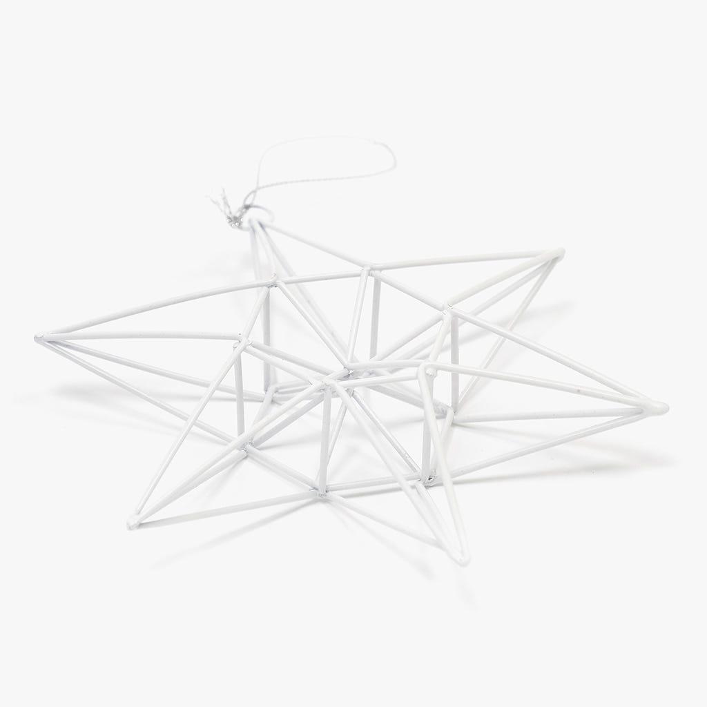 Estrela Metal Branca 16 cm
