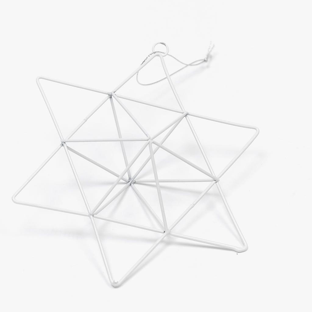 Estrela Metal Branca 16,5 cm