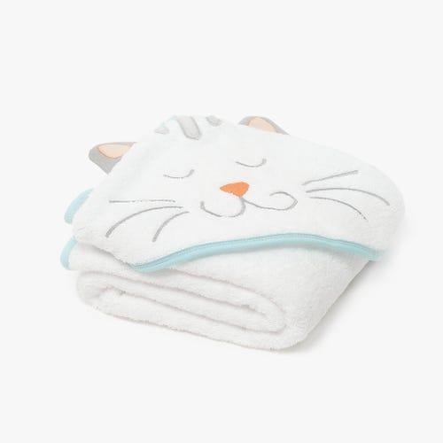 Toalha de Banho Alpha com capuz Branco 100x100 cm
