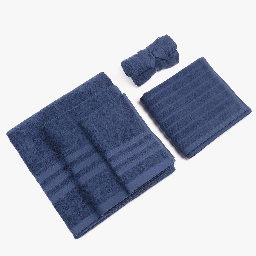 Toalha de Banho Azul Marinho 100x150 cm