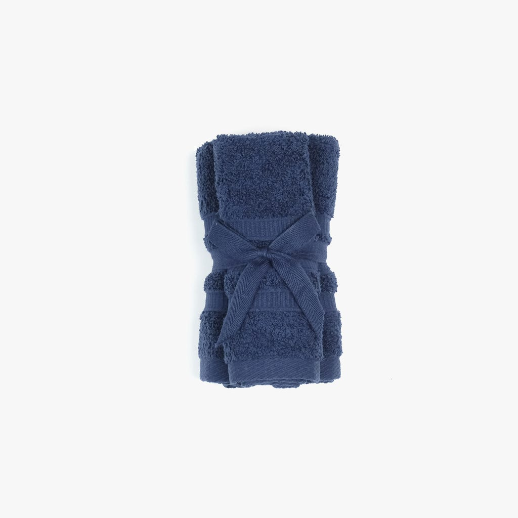 Toalhete Azul Marinho 30x30 cm (conjunto3)