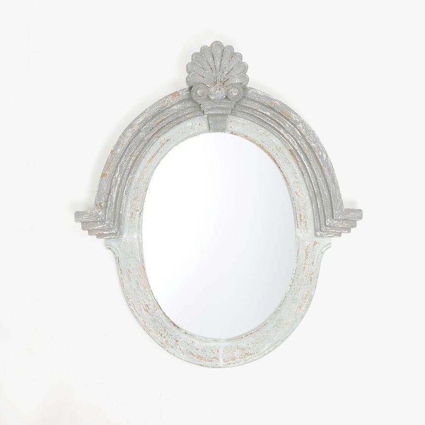 Espelho Oval Florão 80x92 cm