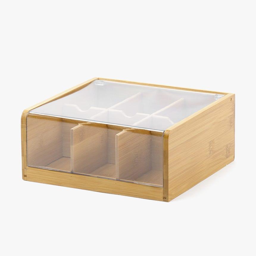 Caixa para Chá Bambu/Acrílico