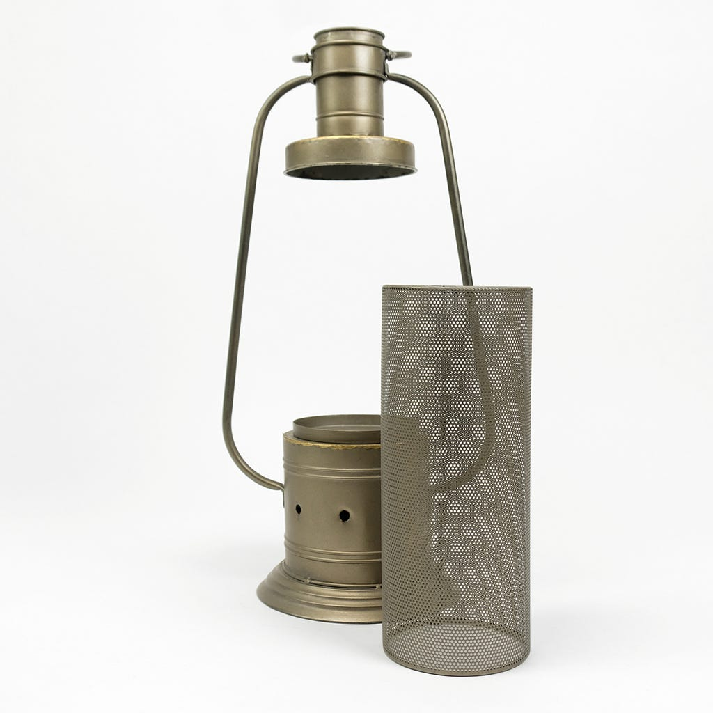 Lanterna Rústica Metal 26,5x65 cm