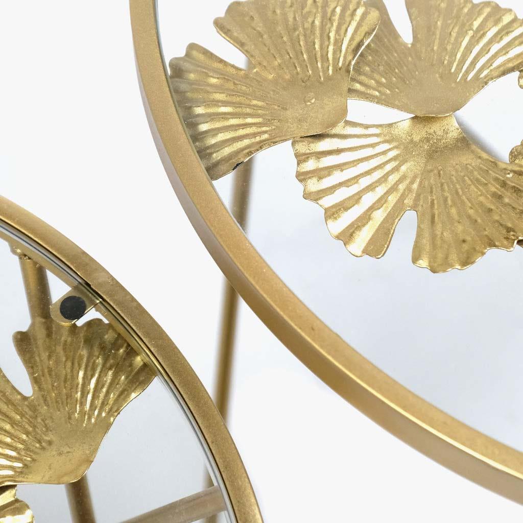 Mesas Mãe Ginkgo Dourado (conjunto2)