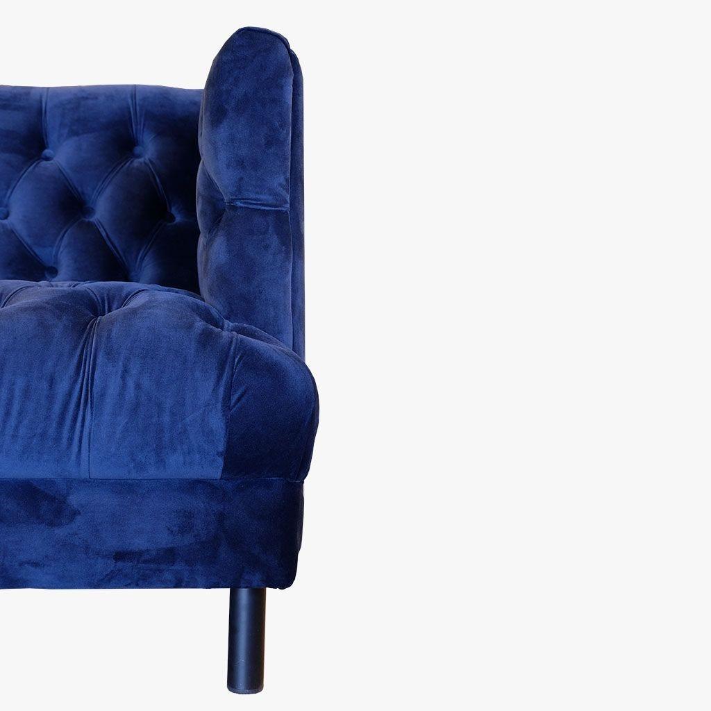 Sofá Taylor Azul215x81,50x74 cm