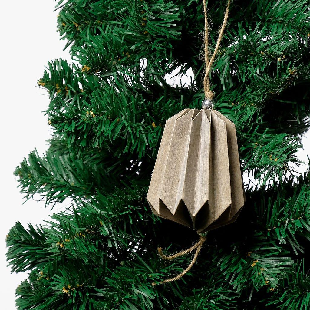 Enfeite de Natal Lanterna Papel 10,5 cm