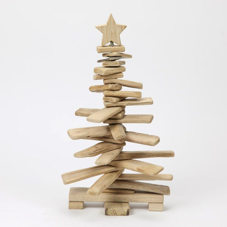 Árvore de Natal 3D Madeira 23x23x40 cm