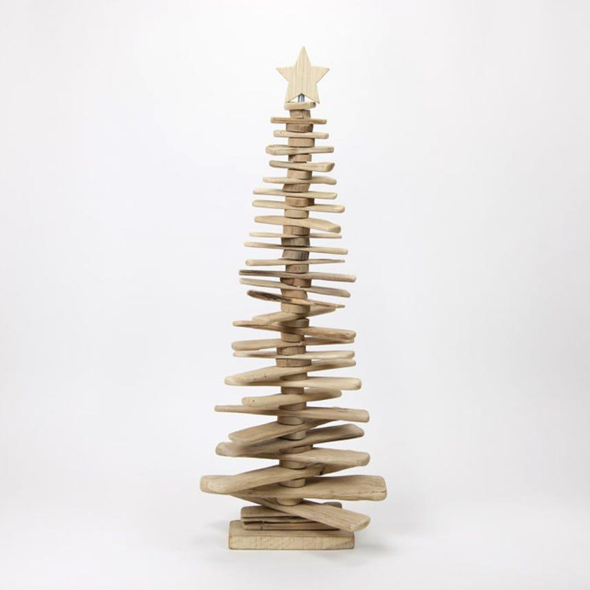 Árvore de Natal 3D Madeira 31x9x78 cm