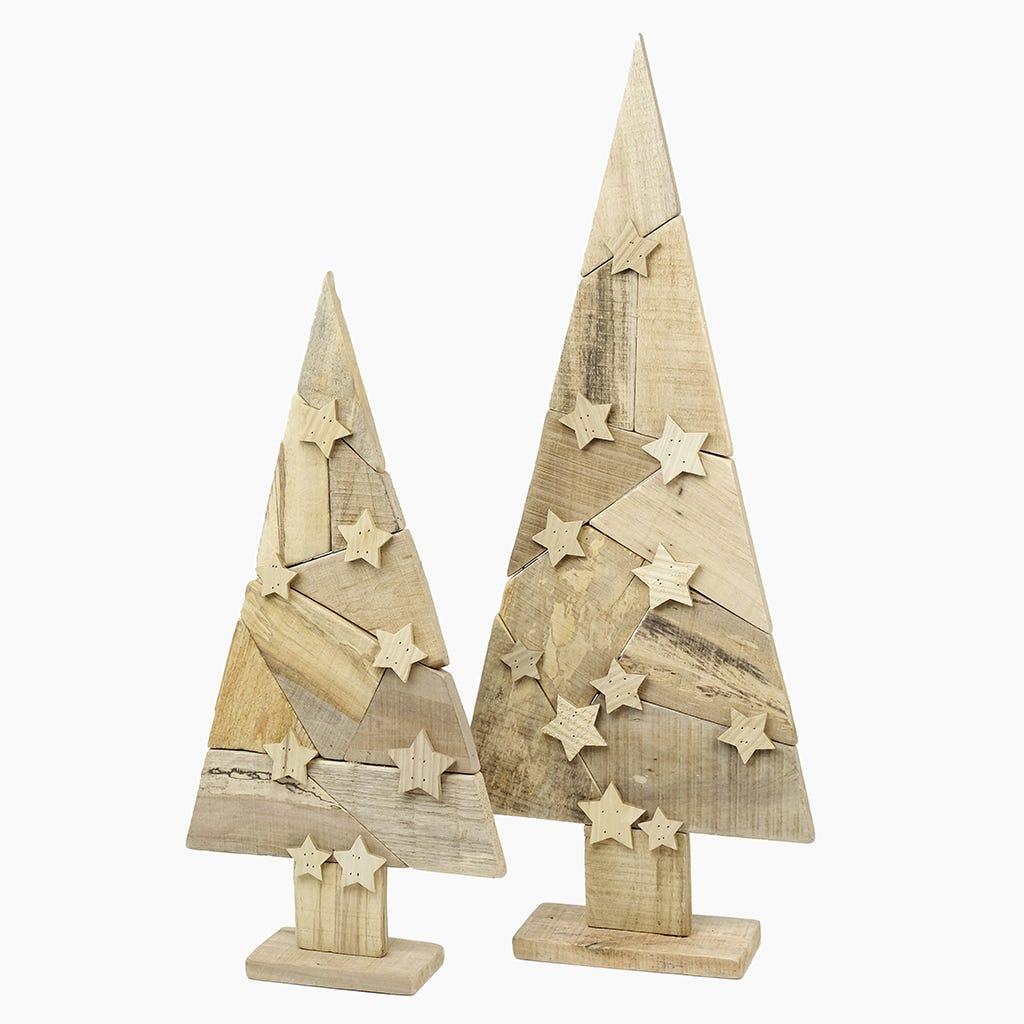 Árvore de Natal Estrelas Madeira 80 cm