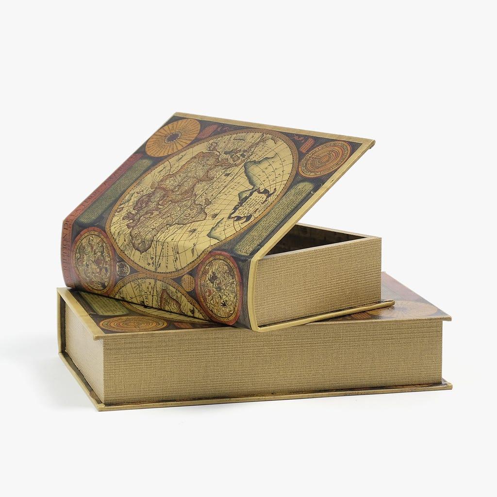 Caixa Livro Mundo 33x22 cm