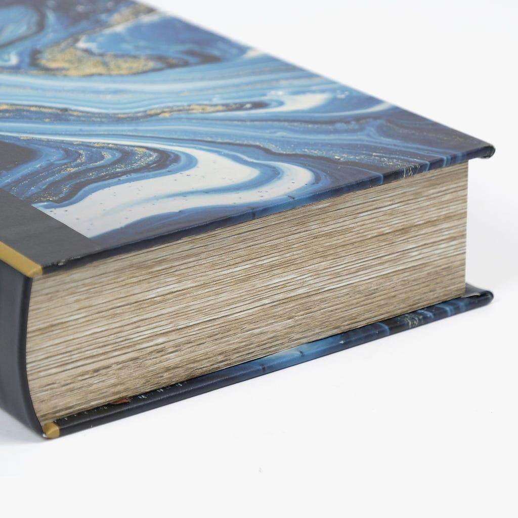 Caixa Livro Abstrata Azul 33x22 cm