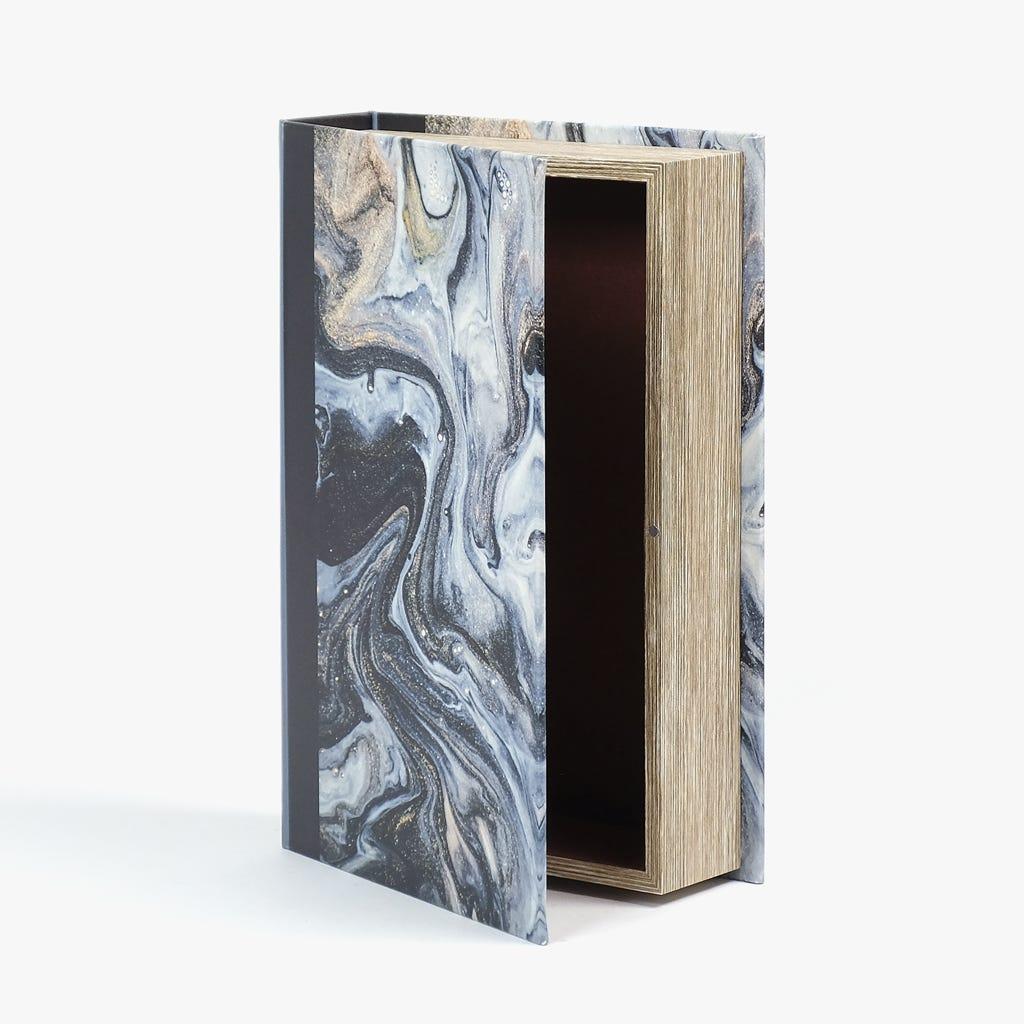 Caixa Livro Abstrata Preto 33x22 cm