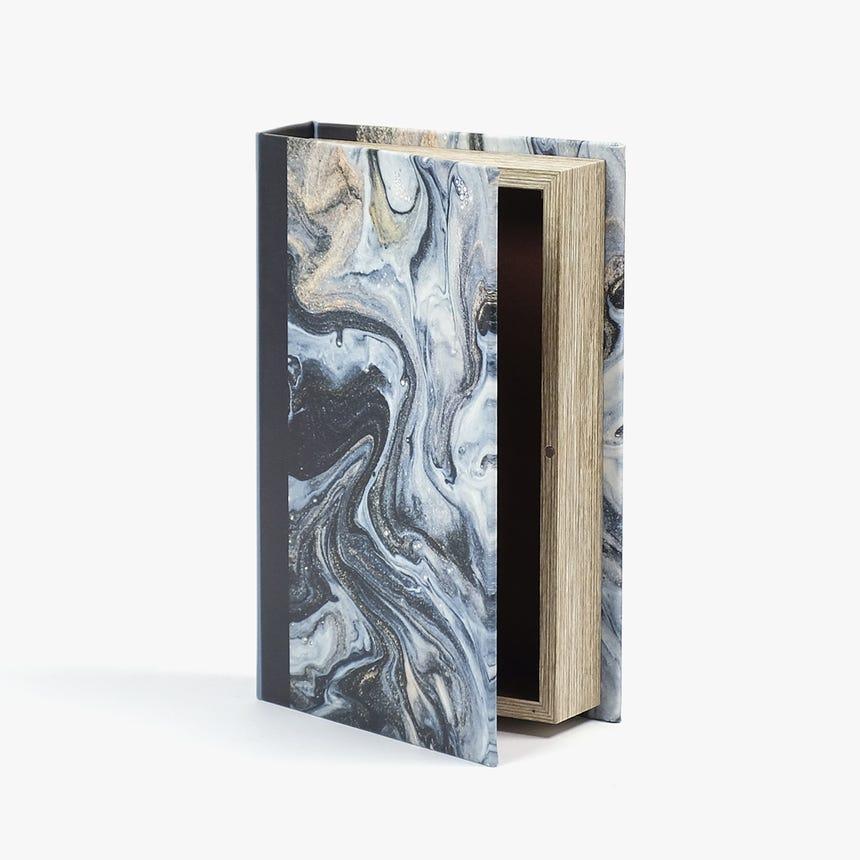 Caixa Livro Abstrata Preto 26x17 cm