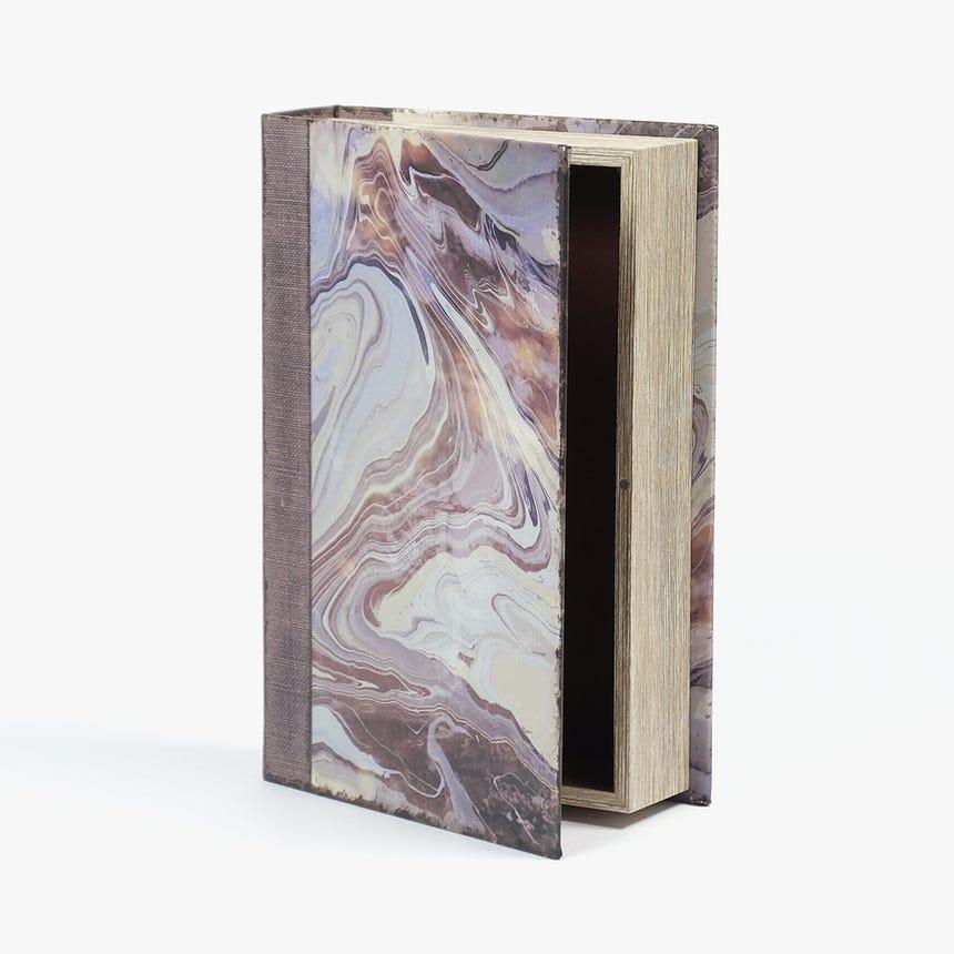 Caixa Livro Abstrata Rosa 33x22 cm