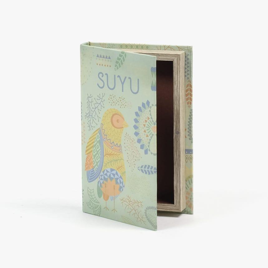 Caixa Livro Suyu Verde 21x14 cm
