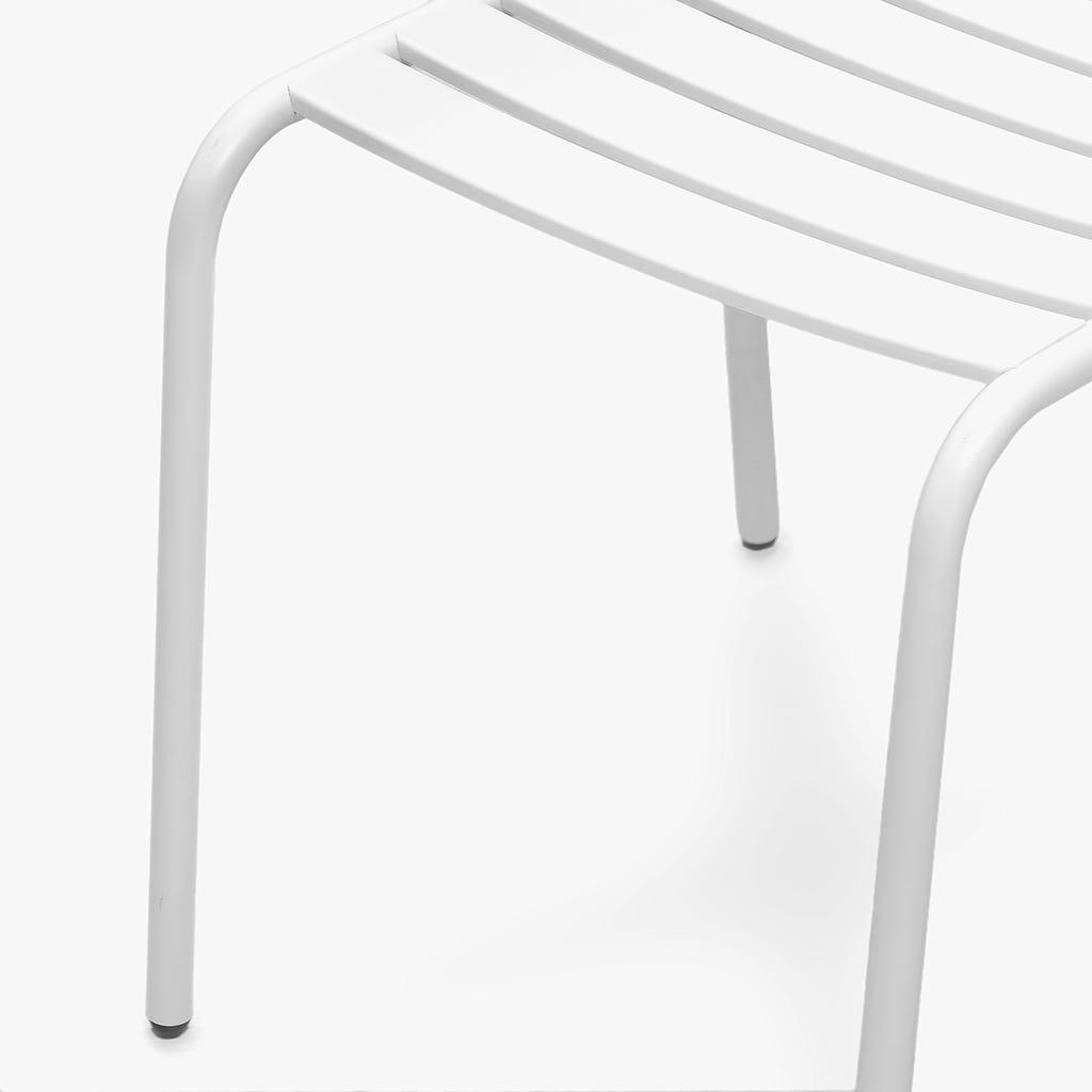 Cadeira Ripas Branco 53x62x84 cm