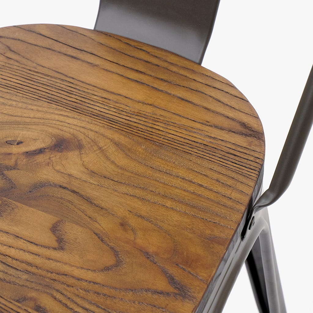 Cadeira Factory Wood 51x44x84 cm