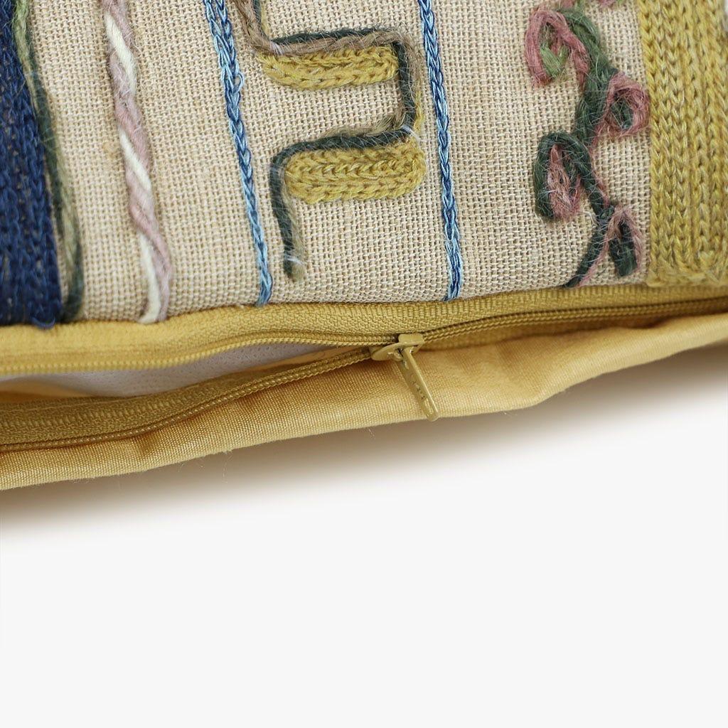 Capa de Almofada Maias Franjas 45x45 cm