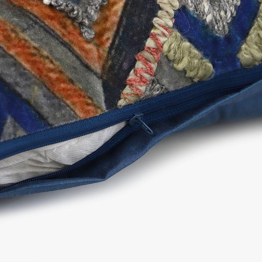 Almofada Budapeste Azul e castanho 30x50 cm