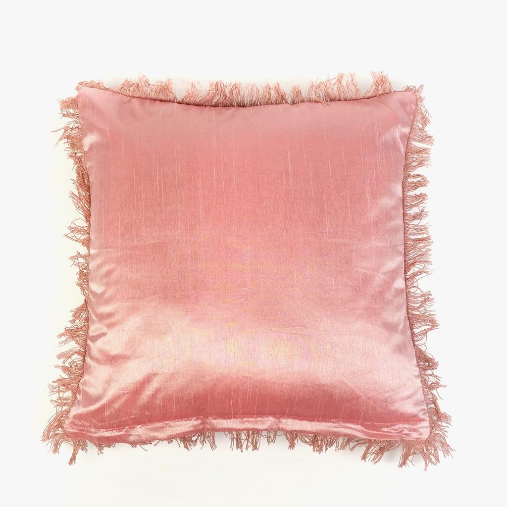 Capa de Almofada Stonewash Flores Rosa 45x45 cm