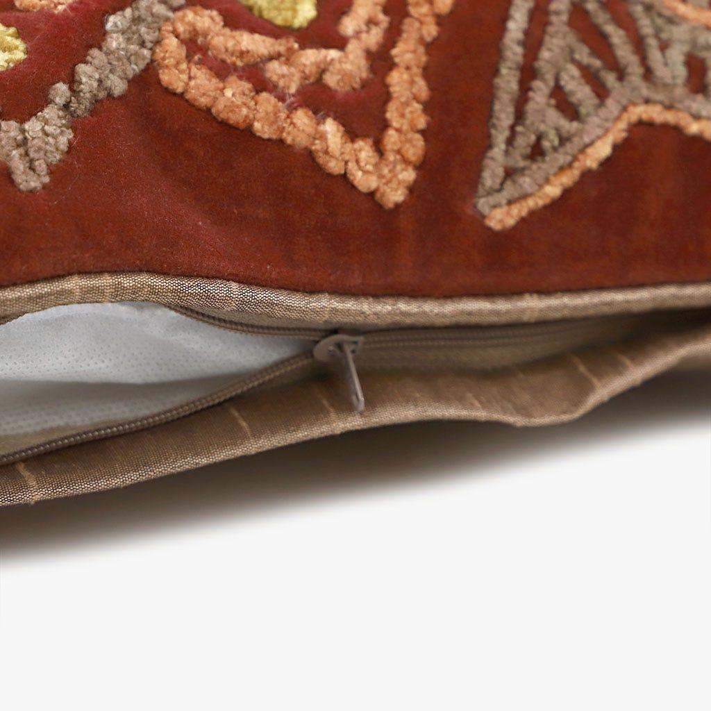Capa de Almofada Mandala Vermelha 45x45 cm