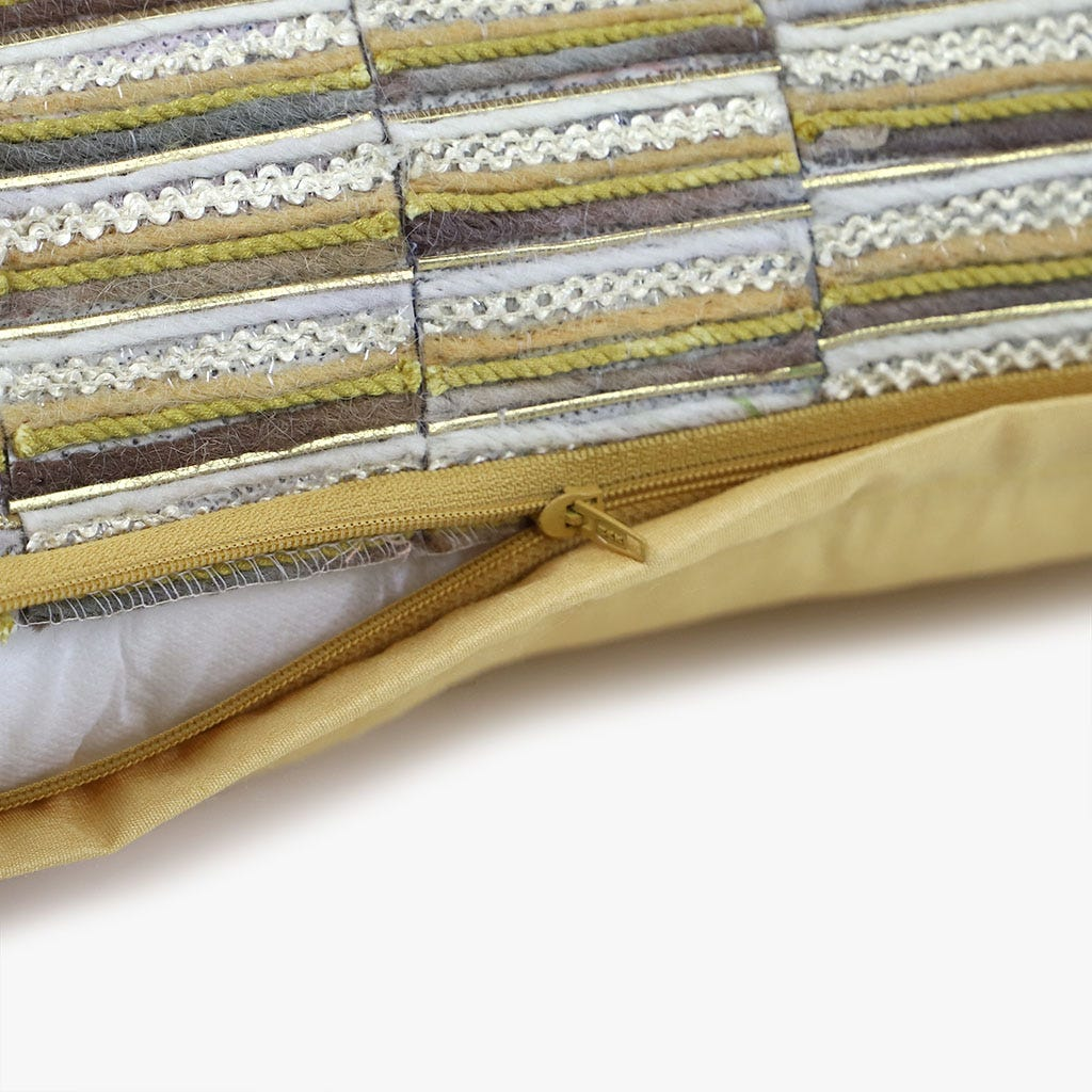 Almofada Chenila Amarelo 30x50 cm