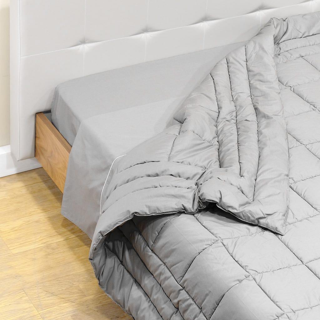 Quilt Percal Cinza 180x250 cm