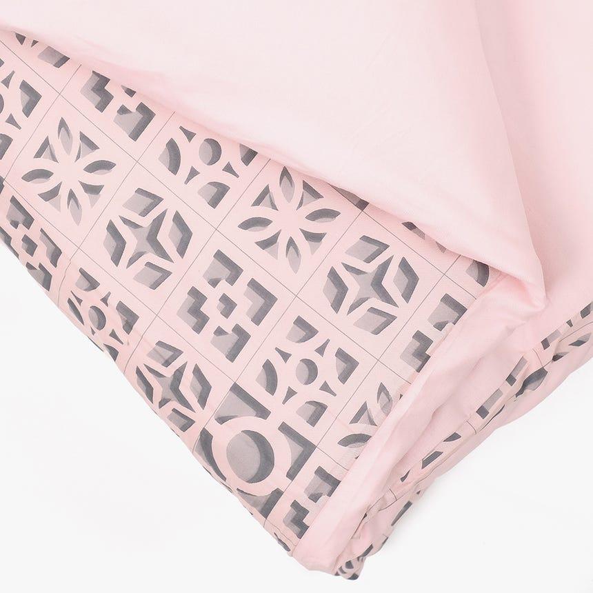 Saco de Edredão Breeze Blocks Rosa 140x200 cm